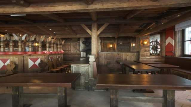 the kitzloch apresski bar and restaurant stands closed for the summer on september 11 2020 in ischgl austria ischgl became a superspreader locality... - ski holiday stock videos & royalty-free footage