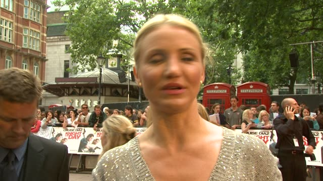 the 'knight and day' uk premiere at london england - cameron diaz stock videos & royalty-free footage