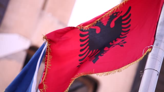 the kosovo flags - pristina stock videos and b-roll footage