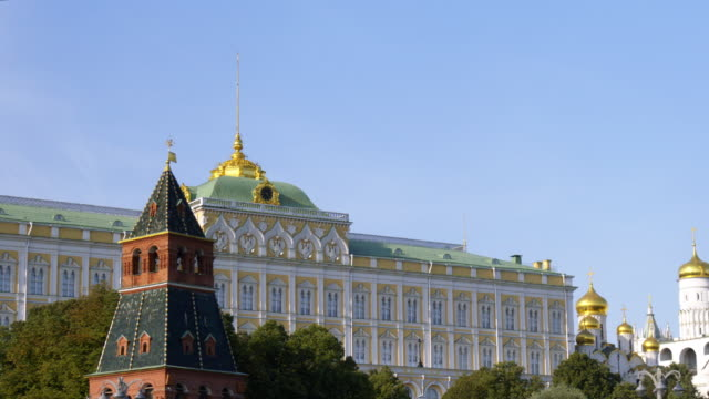 the kremlin along the river - moscow russia stock videos & royalty-free footage