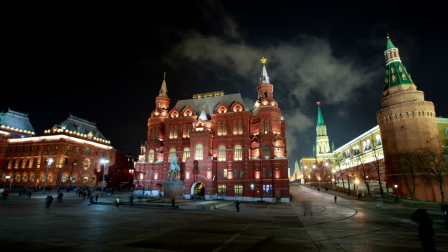 vídeos de stock, filmes e b-roll de the kremlin and red square - russia