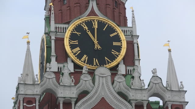 the kremlin and the headquarters of the russian central bank. moscow, russia, on friday, february 7, 2020. - roman numeral stock videos & royalty-free footage