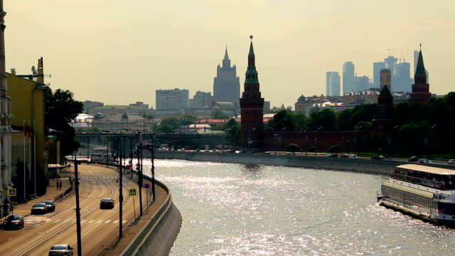 The Kremlin embankment in Moscow.