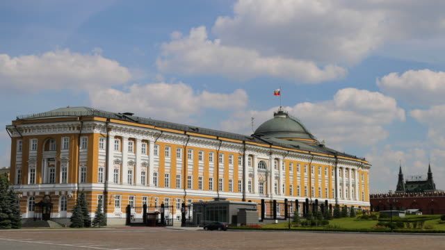 the kremlin senate, moscow, russia - senate stock videos & royalty-free footage