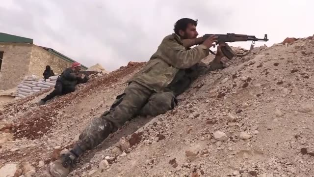 stockvideo's en b-roll-footage met the kurdish fighters of the free syrian army say they are defending their own land against the pyd/pkk terrorist organization vowing to free afrin... - us military