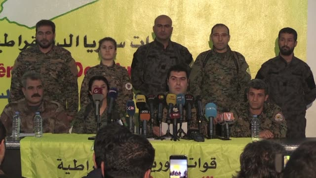 the kurdish force in northern syria on monday said turkey's operation against it in afrin amounted to supporting the islamic state jihadist group and... - syrian democratic forces stock videos & royalty-free footage