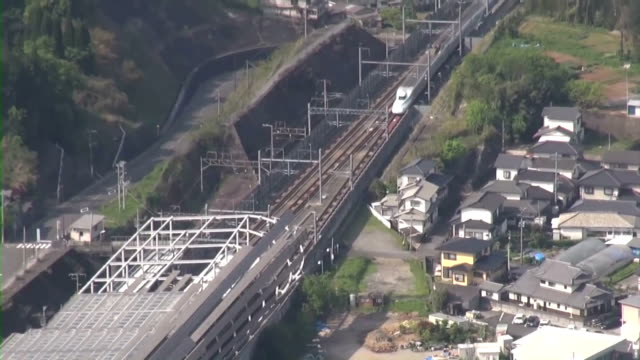the kyushu shinkansen bullet train is now operating between shinminamata station in minamata kumamoto prefecture and kagoshimachuo station in the... - kyushu shinkansen stock videos and b-roll footage