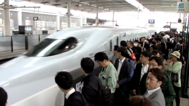the kyushu shinkansen highspeed rail service that links the cities of fukuoka and kagoshima restarted april 27 along the entire line for the first... - kyushu shinkansen stock videos and b-roll footage