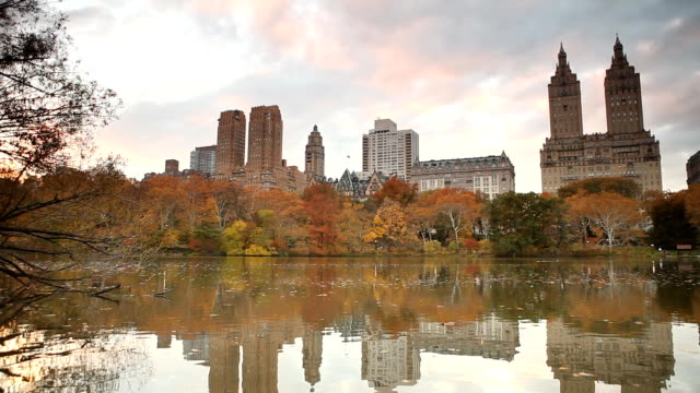 The Lake at Central Park in Autumn