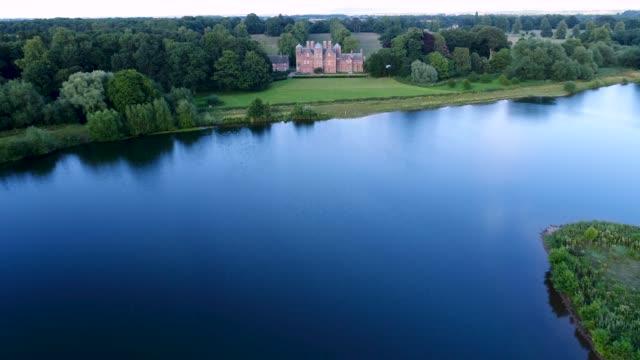 the lake at kiplin hall - loch stock videos & royalty-free footage