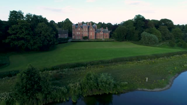 the lake at kiplin hall - grounds stock videos & royalty-free footage