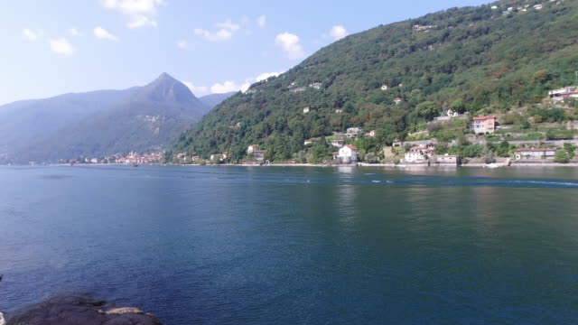 The Lake Maggiore, in Northern Italy. Cannero village