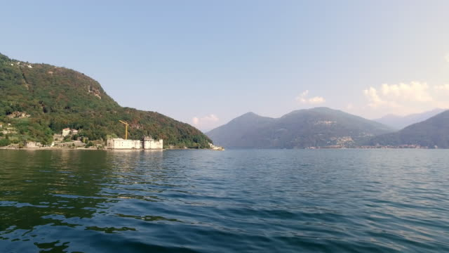 the lake maggiore, in northern italy. - 40 seconds or greater video stock e b–roll