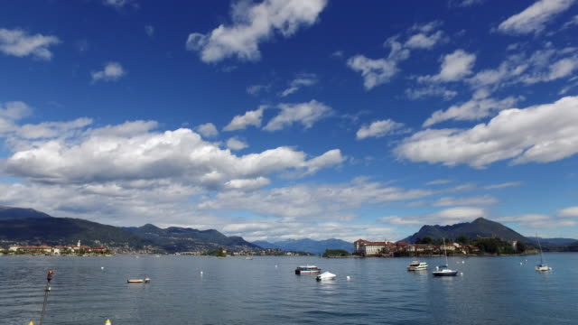 the lake maggiore, in northern italy. - 40 seconds or greater stock-videos und b-roll-filmmaterial