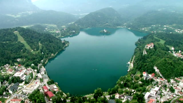 hd: the lake of bled - lake bled stock videos & royalty-free footage