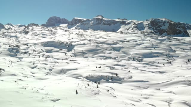 the land of cold - winter fairytale in dachstein mountains - upper austria stock videos & royalty-free footage