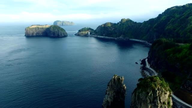 The landscape of Ulleungdo Island (Famous travel destination in Korea) in the East Sea in Ulleunggun, South Korea