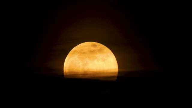 the largest supermoon of 2019 on february 19 2019 in london england today's supermoon sometimes known as the super snow moon is the second supermoon... - supermoon stock videos & royalty-free footage