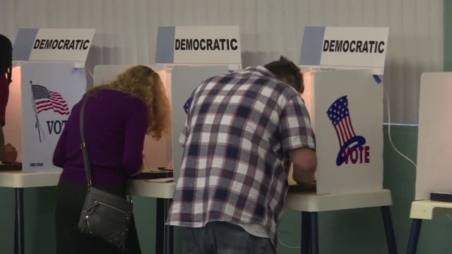 the last major primaries of the 2016 white house race kick off in new jersey and california hours after us delegate counts shows hillary clinton... - demokratie stock-videos und b-roll-filmmaterial