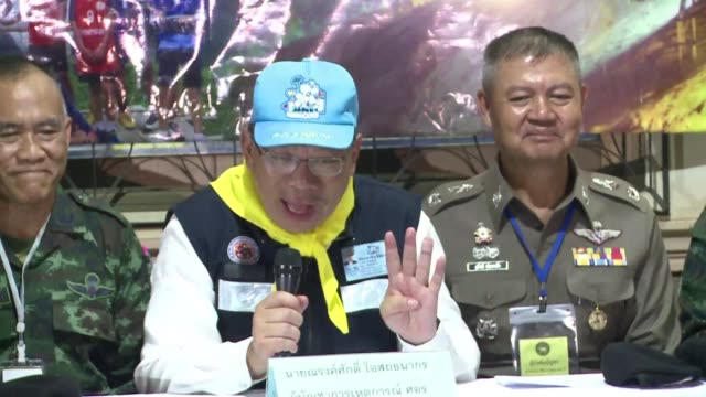 the last rescuers and doctor walked out of the cave fine and are in good condition the head of the rescue mission in thailand confirms - good condition stock videos & royalty-free footage