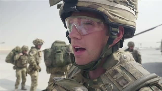 stockvideo's en b-roll-footage met the last uk combat troops have left helmand province marking the end of a 13 year military campaign in afghanistan hundreds of aircraft were involved... - kandahar afghanistan