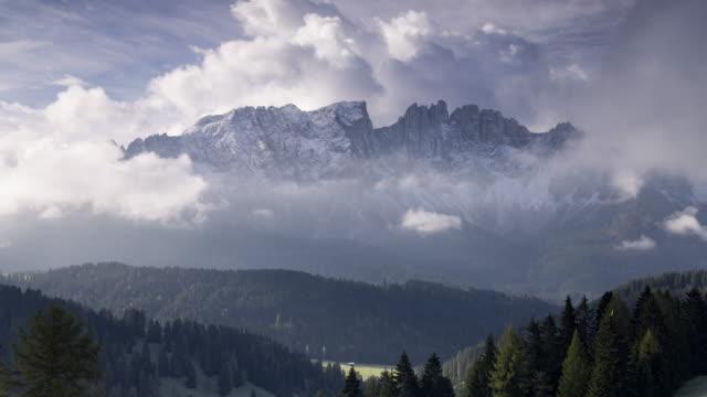 The Latemar mountain range, Italy.