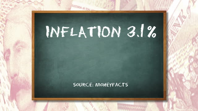 the latest inflation figures are due out later today although the figure for july is expected to be down slightly on june it's still well above the... - インフレ点の映像素材/bロール