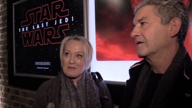 the latest star wars film - the last jedi - was screened in co donegal for local people who worked on the last jedi shoot at malin head. interviews... - アルスター州点の映像素材/bロール