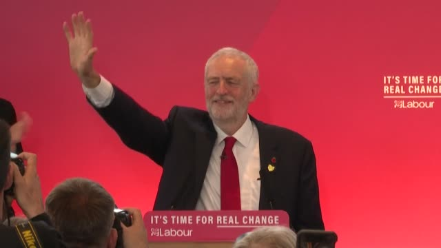 the leader of britain's labour party jeremy corbyn launches his campaign for the december 12 snap general election saying that prime minister boris... - jeremy corbyn stock videos & royalty-free footage
