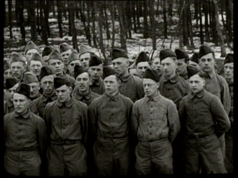 the leader of the german reichsarbeitsdienst konstantin hierl visits a labour camp for men hierl is serenaded by a choir and he watches the men... - nazism stock videos & royalty-free footage