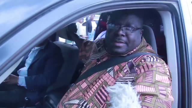 The leader of the opposition party in Zambia the National Democratic Congress Chishimba Kambwili appears in court over forgery charges