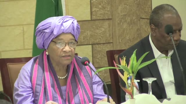 the leaders of ecowas and au are in liberia to mediate with key political leaders to ensure that the runoff election is held - runoff election stock videos & royalty-free footage