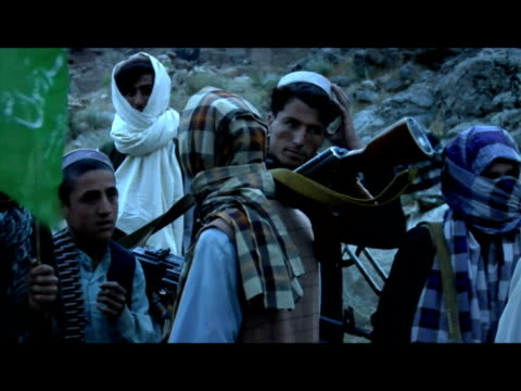 the leading players in afghanistan meet in kabul tomorrow for an international conference on the country's futureone of the key issues will be the... - militant groups stock videos and b-roll footage