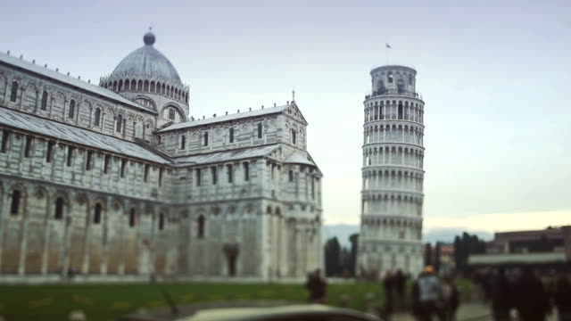 The leaning tower of Pisa in Campo dei Miracoli