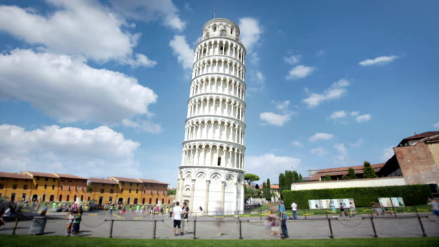the leaning tower of pisa, tuscany, italy - tower stock videos & royalty-free footage