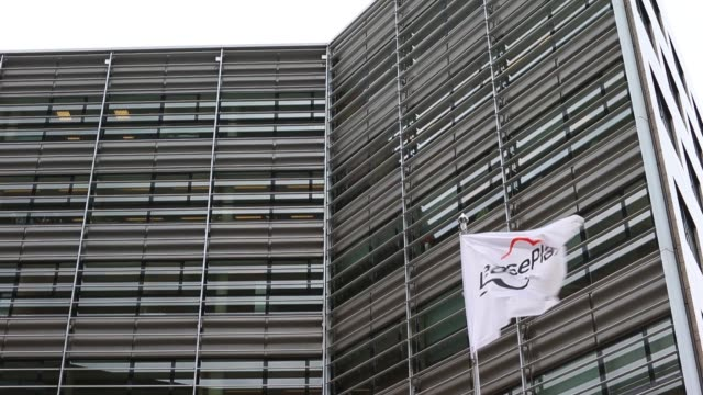 the leaseplan corp logo sits on flags flying outside the car leasing and contract automobile hire company's headquarters in almere netherlands on... - lease agreement stock videos & royalty-free footage