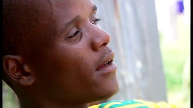 the legacy of the 2010 world cup finals; theko sotshangane speaking - fußballweltmeisterschaft 2010 stock-videos und b-roll-filmmaterial
