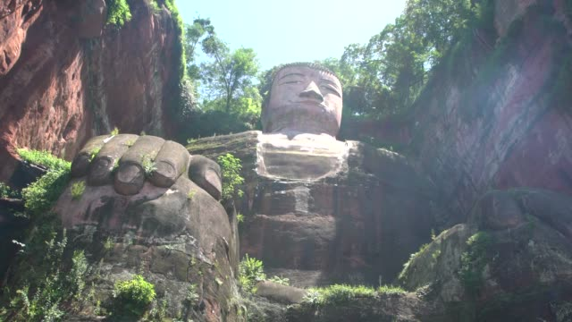 the leshan giant buddha statue near leshan, sichuan, china - biggest stock videos & royalty-free footage