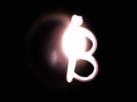 stockvideo's en b-roll-footage met the letter b - letter b
