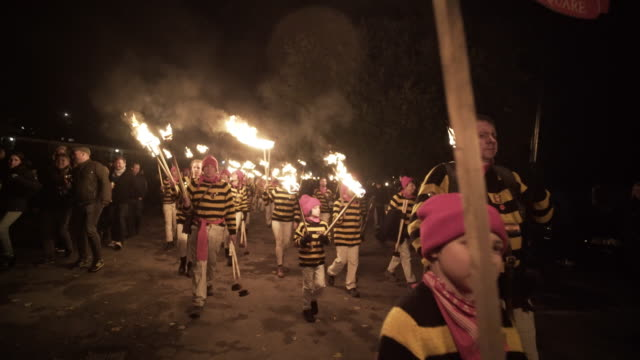 The Lewes Bonfire Celebrations on November the 5th