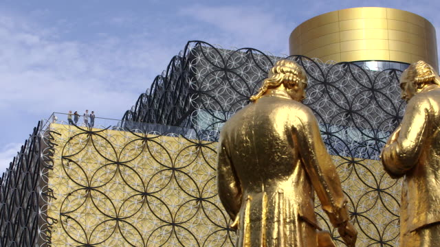 the library of birmingham. - birmingham england stock videos & royalty-free footage