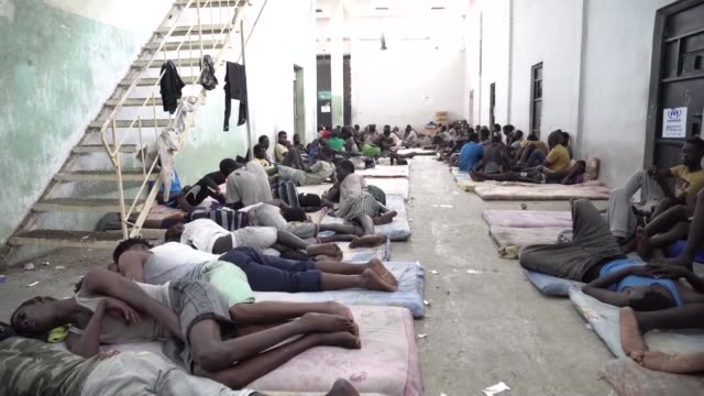 the libyan coastguard has rescued more than 900 african and asian migrants attempting to reach europe a navy spokesman said on saturday - az zawiyah stock videos & royalty-free footage