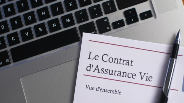 the life insurance contract - french language stock videos & royalty-free footage