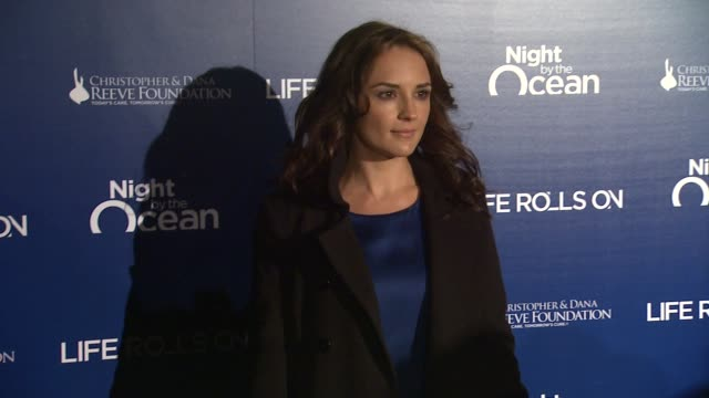 the life rolls on foundation's 9th annual 'night by the ocean' marina del ray ca united states 11/10/12 - vanessa marano stock videos and b-roll footage