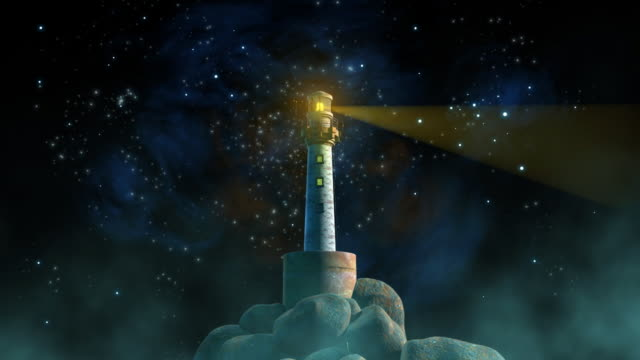 The Lighthouse And Starry Night HD