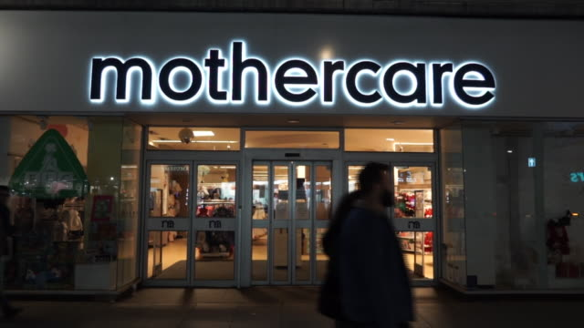 the lights at a mothercare store being turned off - high street stock videos & royalty-free footage