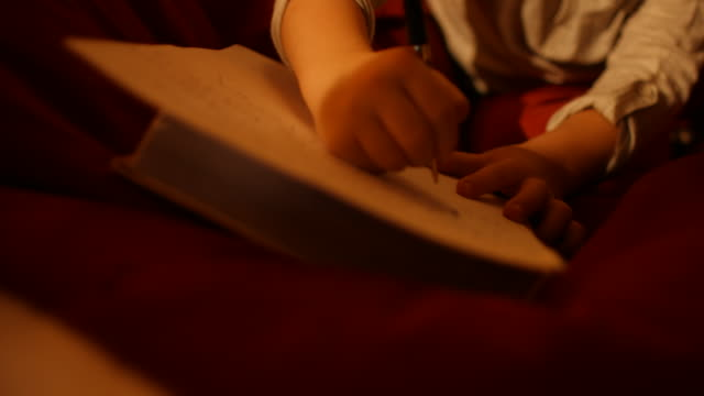 the little boy writes a letter to santa - list stock videos & royalty-free footage