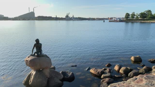 the little mermaid all alone in copenhagen - literature stock videos & royalty-free footage