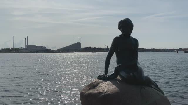 the little mermaid in copenhagen - literature stock videos & royalty-free footage
