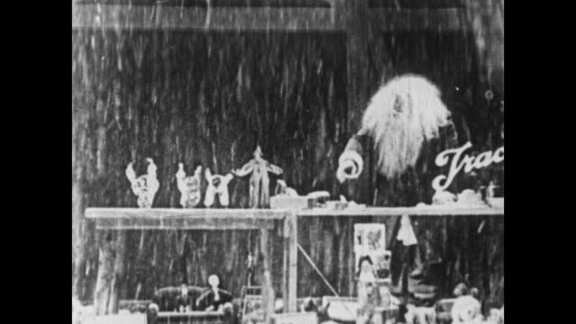 1926 the little rascals catch santa changing when the curtain falls - 1926 stock videos & royalty-free footage